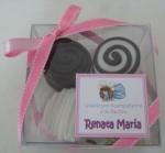 Caja de 4 mini alfajores - chocolate blanco y nutela