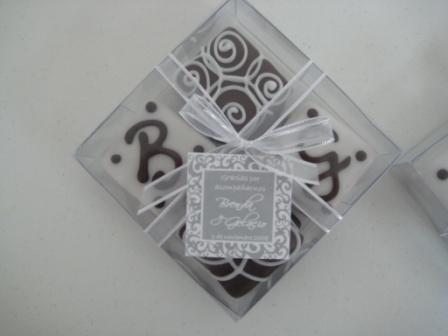 Alfajores para boda en caja