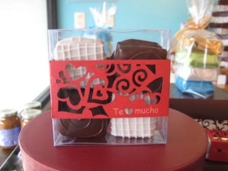 Caja de 4 alfajores - San Valentin