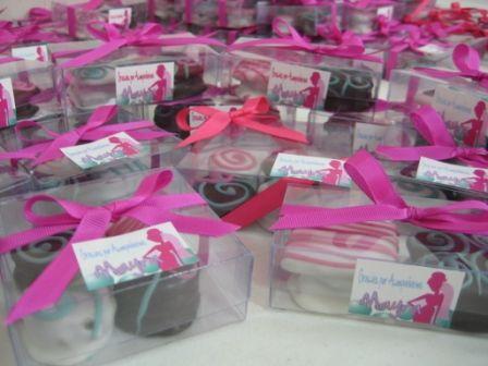 Cajas rosas para despedida de soltera