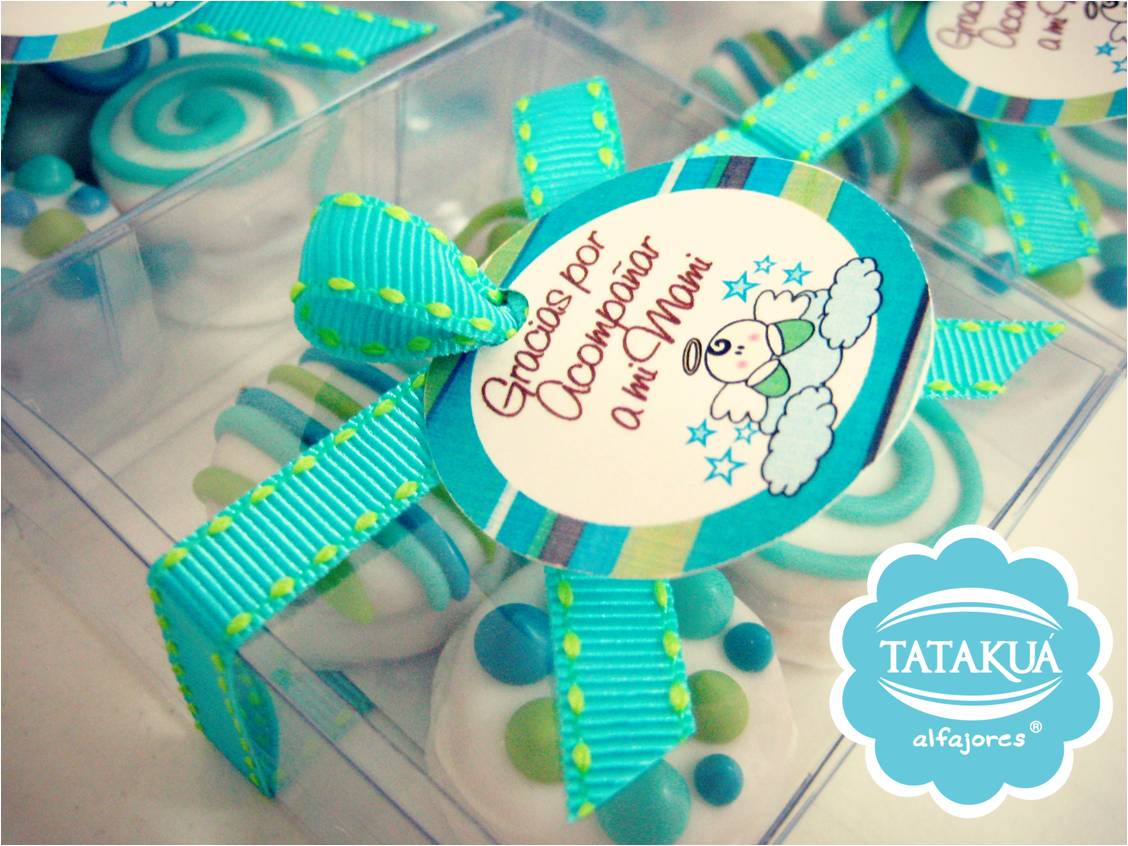 Baby shower tataku alfajores for Novedades para baby shower