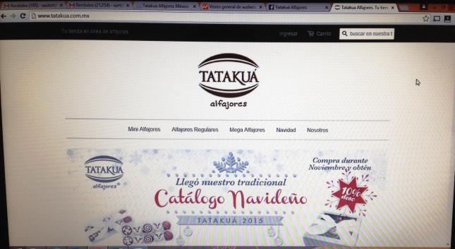Pagina Web Tatakua Alfajores